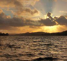 Coniston Water Sunset by J Biggadike