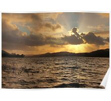 Coniston Water Sunset Poster
