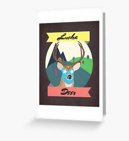 Luchadeer Greeting Card