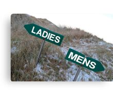 ladies sign above mens sign Canvas Print