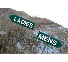 ladies sign above mens sign Photographic Print