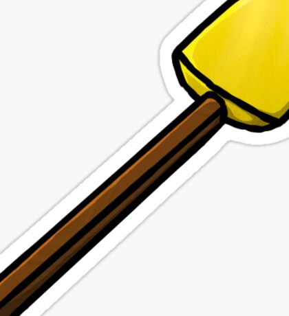 Minecraft Golden Shovel Sticker