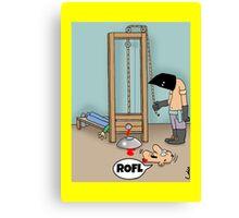Funny ROFL cartoon greetings card. Canvas Print