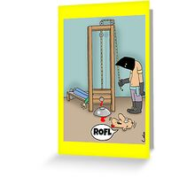 Funny ROFL cartoon greetings card. Greeting Card