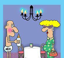 Pregnant Bind Date cartoon funny greetings card. by TheNuttaz