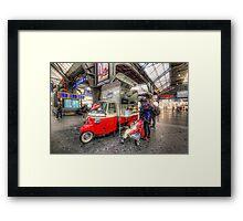 Hotdog Stand at Hauptbahnhof Framed Print