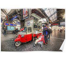 Hotdog Stand at Hauptbahnhof Poster