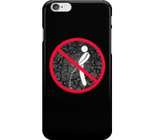 do not pee on the Dude's rug iPhone Case/Skin
