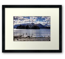 Derwent Island in March 2013 Framed Print