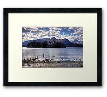 Derwent Island in March 2013 Framed Print