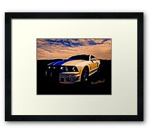 Mustang GT 500 Ready for Mustangs Across America Drive Framed Print
