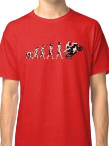 MOTORCYCLE EVOLUTION BIKE WHEELIE Classic T-Shirt