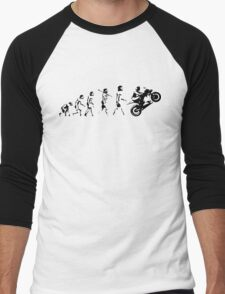 MOTORCYCLE EVOLUTION BIKE WHEELIE Men's Baseball ¾ T-Shirt