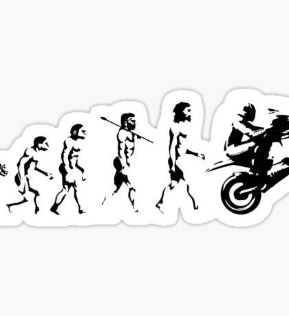 MOTORCYCLE EVOLUTION BIKE WHEELIE Sticker