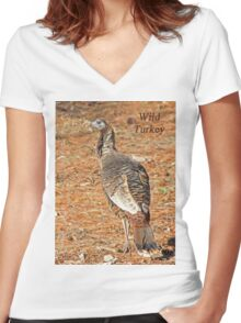 Wild Turkey Women's Fitted V-Neck T-Shirt