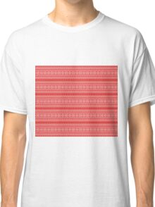 Faux Christmas Sweater - Red Classic T-Shirt