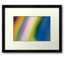 Rainbow Curtain Framed Print