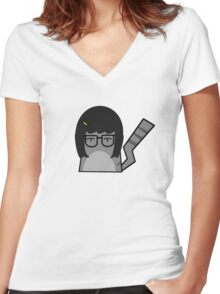 Tina Cat Women's Fitted V-Neck T-Shirt