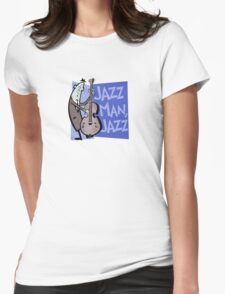 Jazz Man, Jazz Womens Fitted T-Shirt