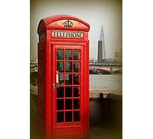 London Phone Box versus the Shard Photographic Print
