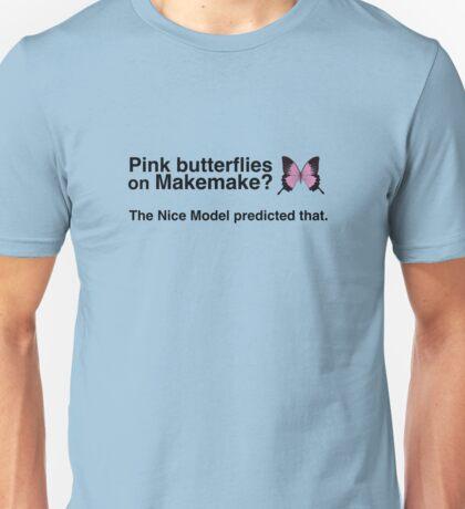 Pink butterflies on Makemake Unisex T-Shirt