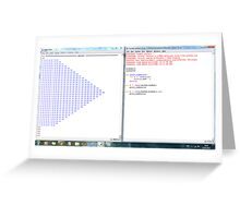 Python program: number pattern -(220313)- Digital screenprint Greeting Card
