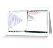 Python program: number pattern -(220313)- Digital screenprint Greeting Card