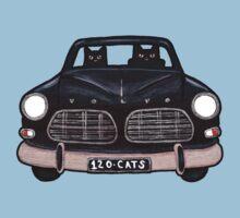 Black Volvo Cats One Piece - Short Sleeve