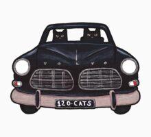 Black Volvo Cats Kids Clothes