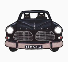 Black Volvo Cats One Piece - Short Sleeve