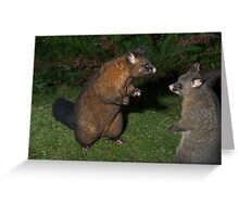 Confrontation Greeting Card