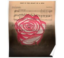 Deep in the heart of a rose Poster