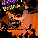 Indigo Yellow Band Poster - Fire by mps2000
