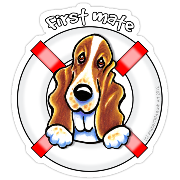 Basset Hound :: First Mate by offleashart