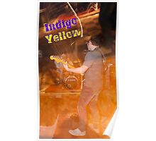 Indigo Yellow Band Poster - Flame Poster