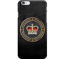 St Edward's Crown - British Royal Crown over Black Velvet iPhone Case/Skin