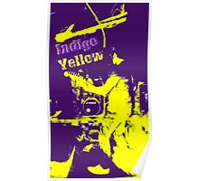 Indigo Yellow Band Poster - I&Y Poster