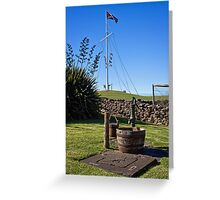 Flagstaff and old water pump Greeting Card
