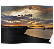 Sunset in Kyleakin  Poster