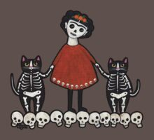 Frida and Her Skellie Cats Kids Clothes