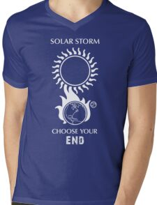 "Solar Storm Shirt - ""Choose Your End"" Mens V-Neck T-Shirt"