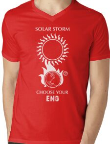 "Solar Storm Shirt - ""Choose Your End"" Mens V-Neck T-Shirt"
