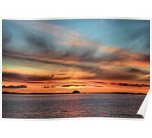 Sunrise over Ailsa Craig  Poster