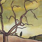 Tree Against a Yellow Sky by drewkrispies