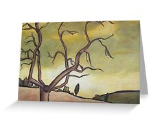 Tree Against a Yellow Sky Greeting Card