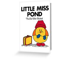 Little Miss Pond Greeting Card