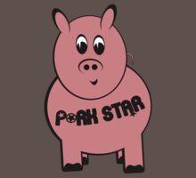 Pork Star T-Shirt One Piece - Short Sleeve