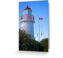 Flagstaff and Lighthouse Greeting Card