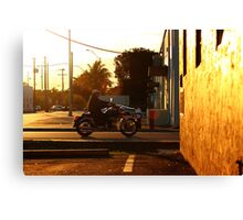 Riding home Canvas Print