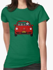 Skellie Cats Road Trip Womens Fitted T-Shirt